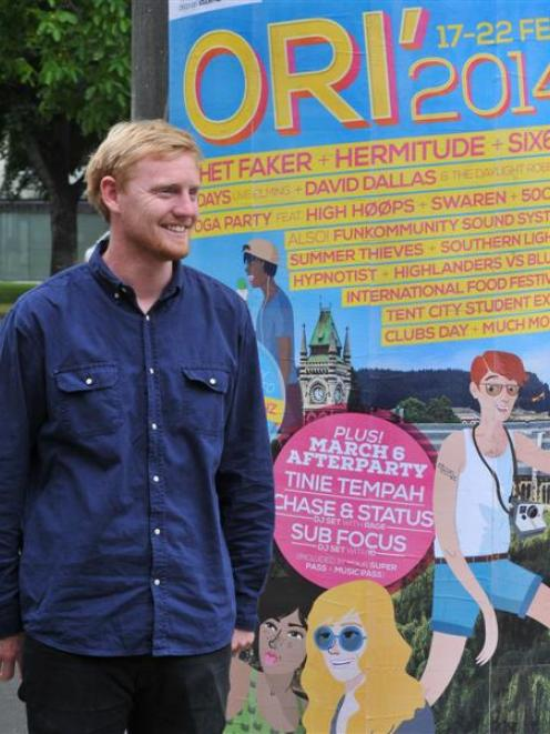 Otago University Students' Association senior events co-ordinator Jason Schroeder will be a busy...
