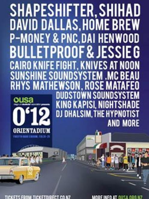 OUSA 2012 events poster.