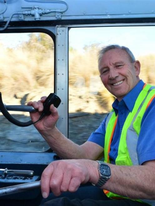 Outram train driver Ken Sloper enjoys his penultimate trip for Taieri Gorge Railway, between...