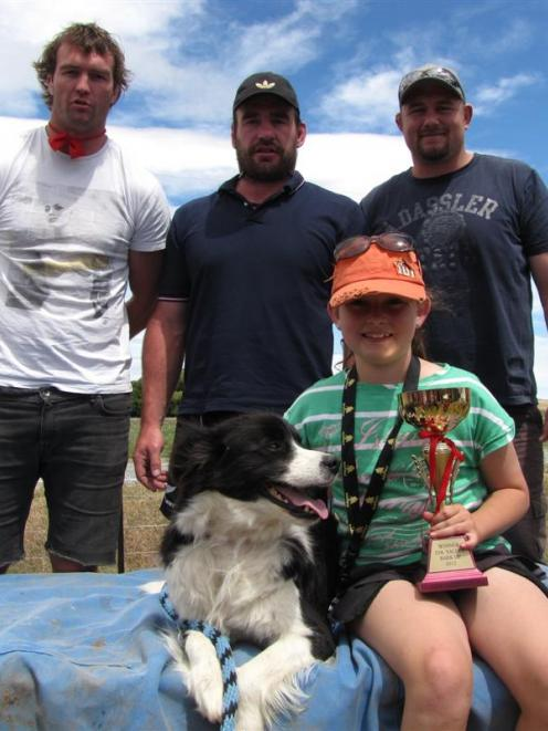 Overall winner of the Ida Valley Bark Up children's category, Shaye Scott (11) with Jazz, and...
