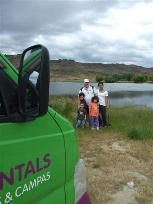 Overseas visitors Peter Kennedy,  his wife Nittaya and their children Alex (2), Alan (6) and...
