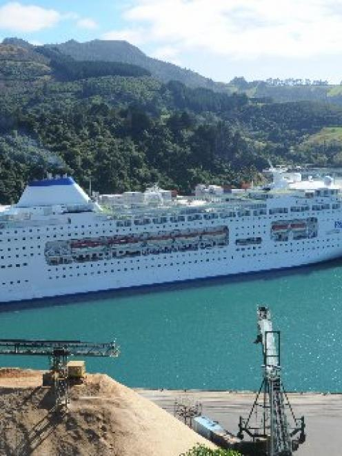 Pacific Pearl berthed at Port Chalmers in 2011. PHOTO: ODT FILES