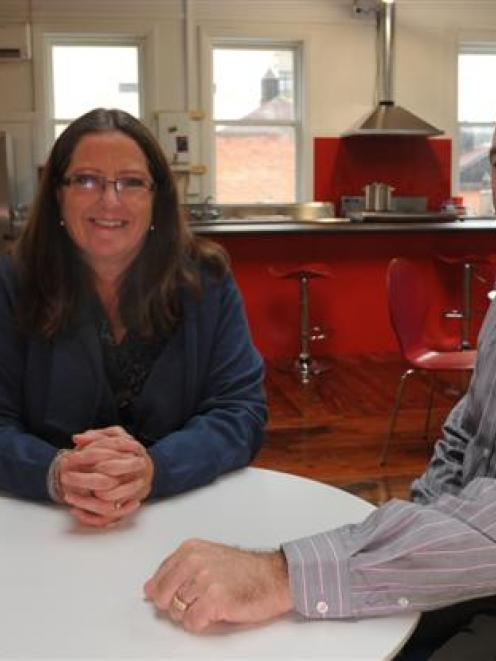 Pact chief executive Louise Carr and client programmes and service development manager Glenn...
