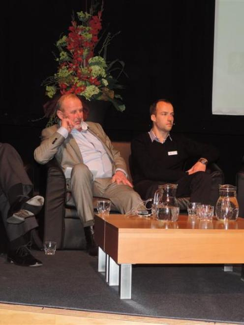 Panellists at the Federated Farmers national conference discussing water partnerships are (from...