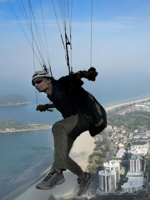 Paraglider Mark Poole has been jailed for endangering the public. Photo by Alan Gibson