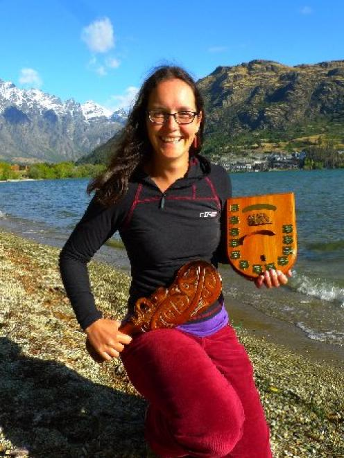 Paraglider Melanie Heather back in Queenstown with the New Zealand Women's Paragliding Champion...