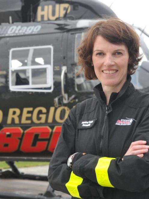 Paramedic and Rural Women New Zealand/Access scholarship recipient Annabel Taylor at Helicopters...