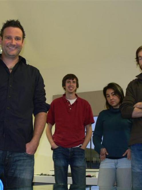 Part of the Xebidy Strategic Design team (from left) Joaquin Montero, director Dan Roberts, Sam...