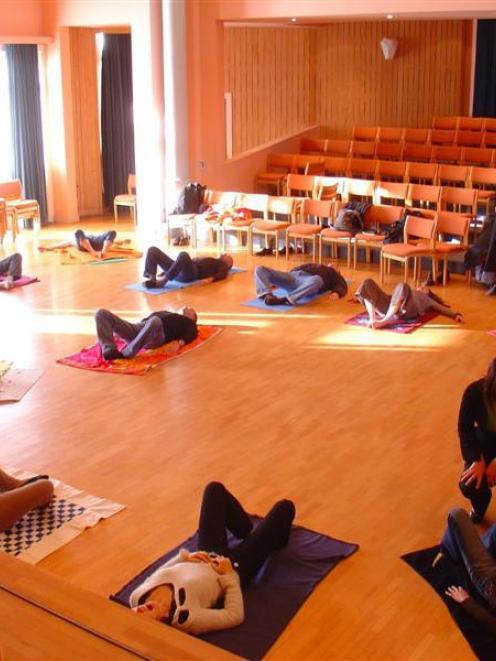 Participants in a TRE workshop. Photo supplied.