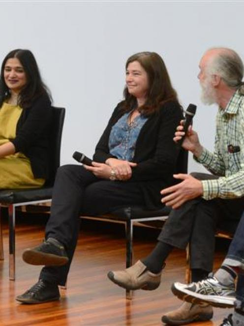 Participating in the Science Teller Festival 2015 panel discussion about  sex in Otago are (from...