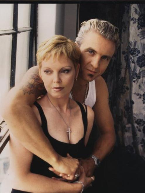Pat Benatar says her husband, Neil Giraldo, is responsible for 'getting all those high notes out...