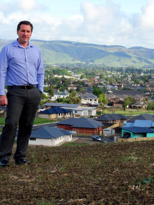 Paterson Pitts director Leon Hallett stands on the new Heathfield subdivision in Mosgiel. Photo...