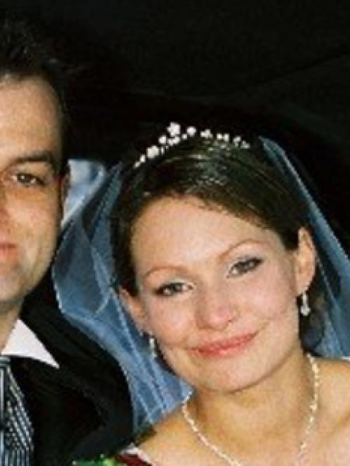 Paul and Danica Weeks on their wedding day in November 2007.