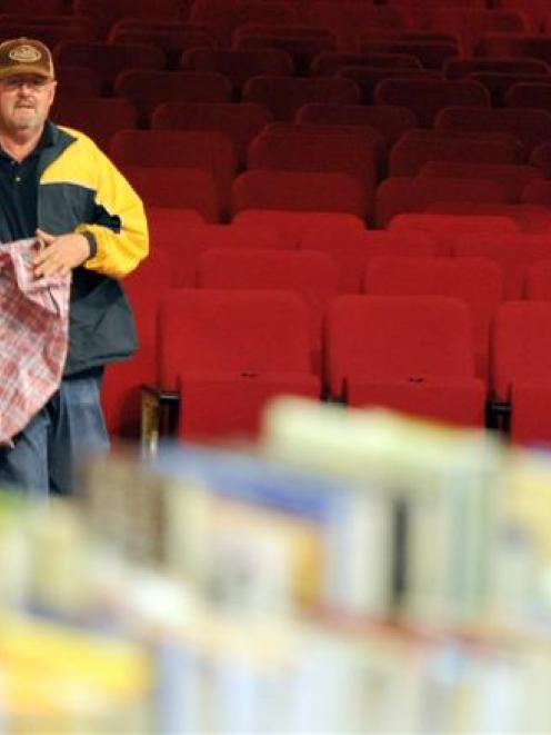 Paul Minter, of Christchurch, makes a beeline for the 'best books'.