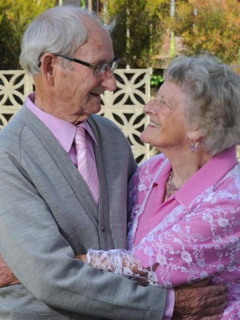 Peter and Dorothy Inglis celebrate their 65th wedding anniversary yesterday. Photo by Craig Baxter.