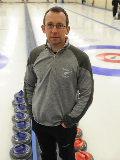 Peter de Boer at the Naseby Indoor Curling Rink during this week's Asia and Pacific championships...