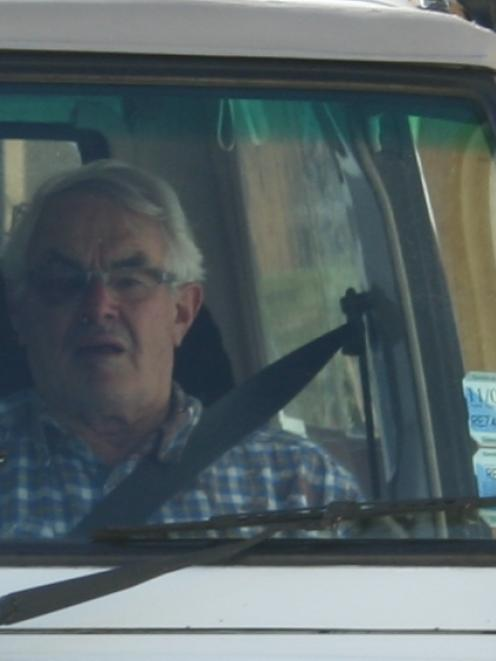 Peter John Barratt is driven away from the courthouse.