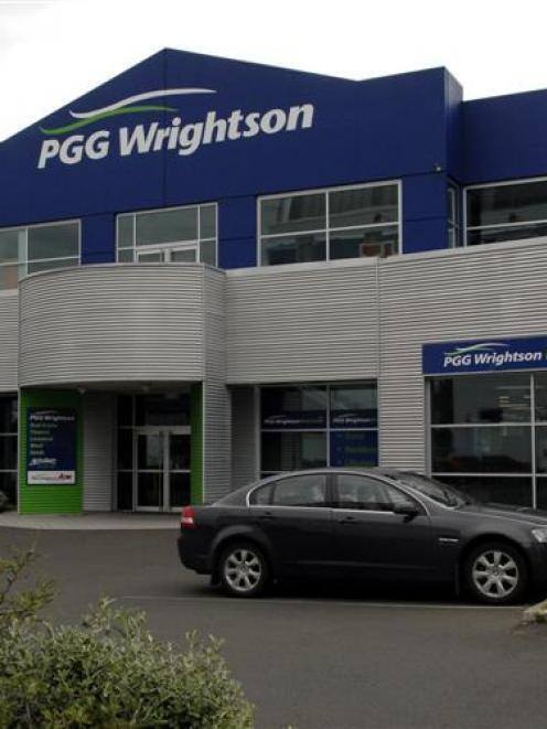 PGG Wrightson building on Vogel Street. Photo by Linda Robertson.
