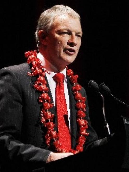 Phil Goff at the Labour Party conference in Auckland yesterday. Photo by NZPA.