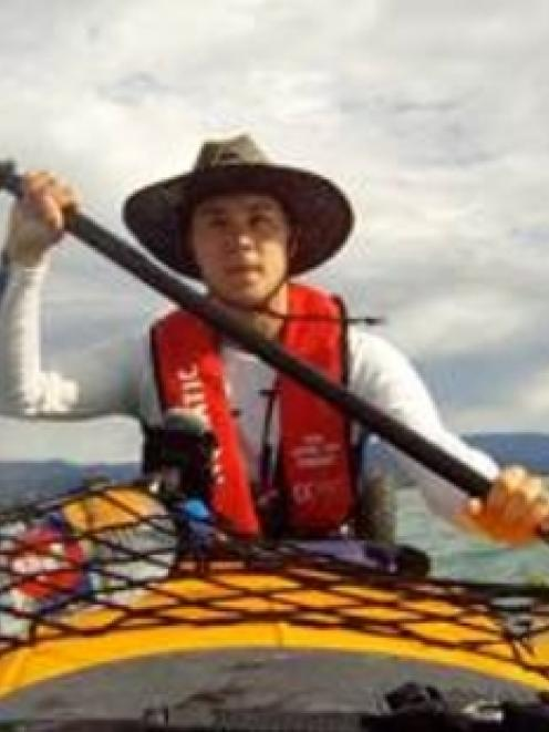Philipp Cartier, 19, was swept 4km from the South Island coast.