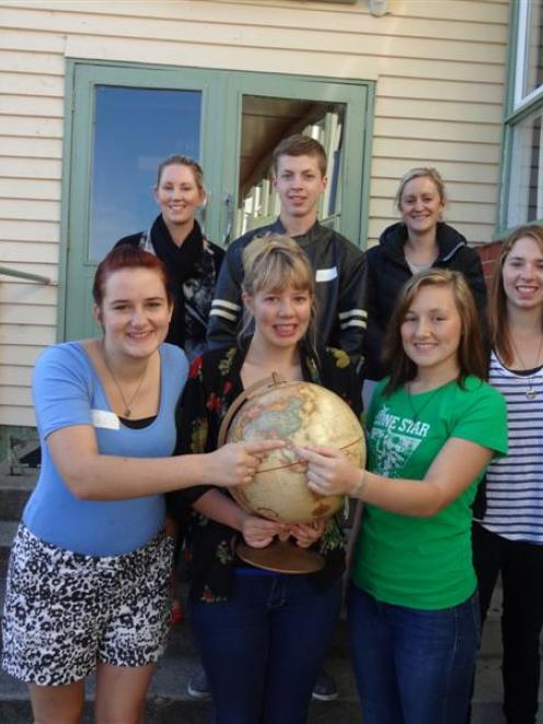 Pictured are, (front, from left) Olivia McKean, Cushla Storey, Emilee Oldham and Ida Keith; back...