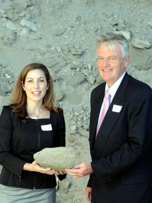 Pictured at the launch of Featherston Resources in March 2011, chief executive at that time Emma...