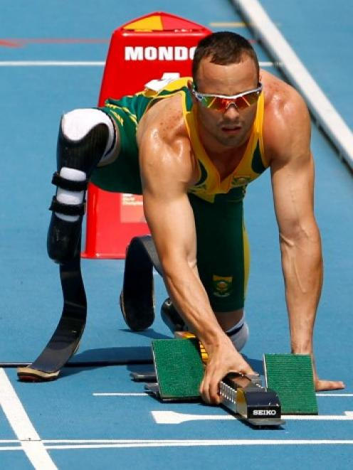 Pistorius as the world knew him before the shooting.