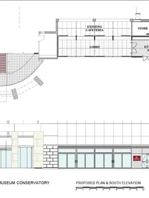 Plans for the proposed conservatory. Image supplied.