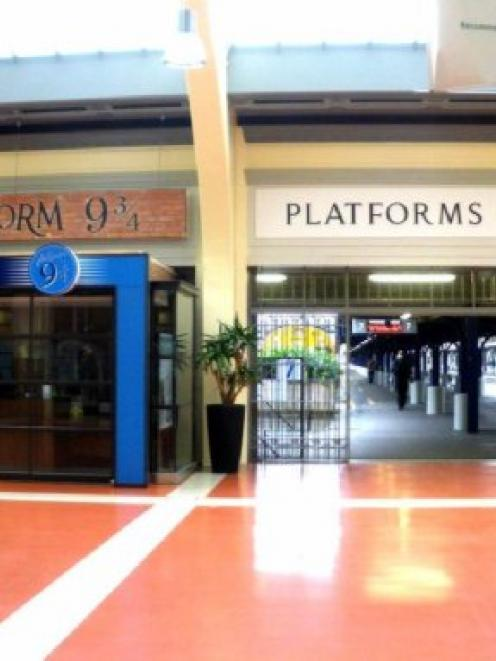 Platform 9¾ adds some magic to Wellington's railway station. Photo supplied.