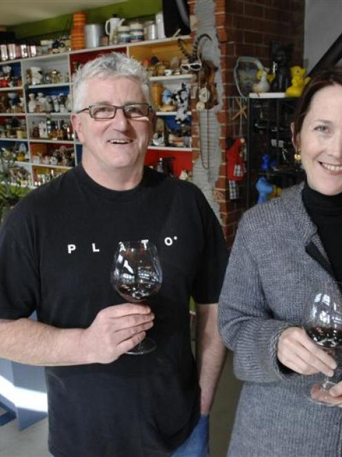 Plato co-owners Nigel Broad and Rebecca Tansley take a break at their restaurant yesterday. Photo...