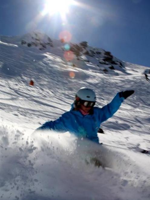 Plenty of spring powder at Cardrona Alpine Resort.