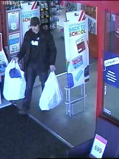 Police are looking for this man in relation to the Warehouse theft. Photo NZ Police