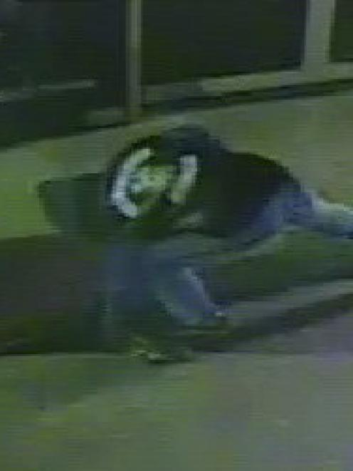 Police ask for sightings of this man  man wearing a black hooded sweatshirt and blue jeans. Photo...