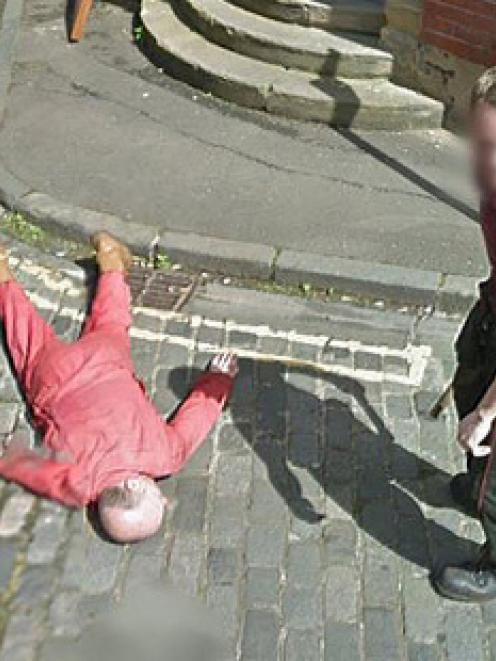Police investigated this Google Earth shot showing an 'axe murder'. Photo: Google Earth