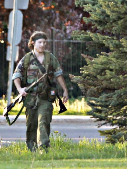 Police say Justin Bourque killed three police officers and wounded two others. REUTERS/Viktor...