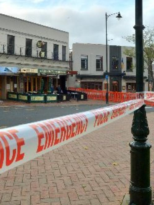 Police tape around the scene of the death. Photo ODT Files