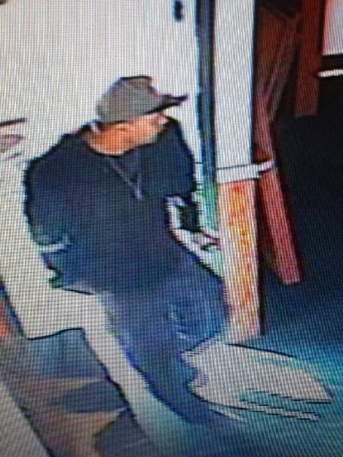 Police wish to talk to this man in connection with a recent burglaries at rest-homes around Otago...