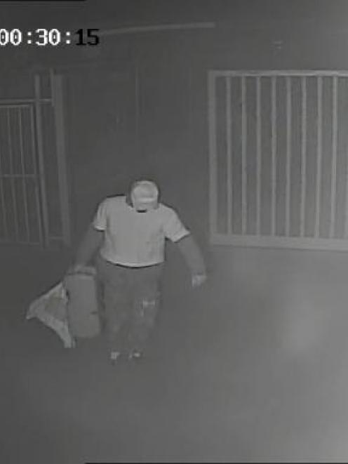 Police working on the Kiwi Self Storage arson investigation want to speak to this man. Photo from...