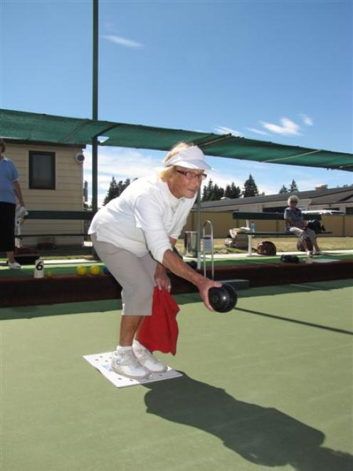 Popular Wanaka Bowling Club life member Betty McCormack (90) hopes her team will win the Central...