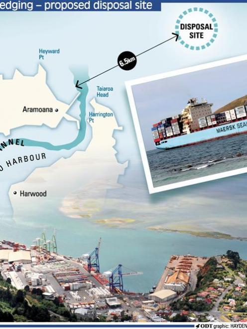 Port Otago's proposed disposal site.