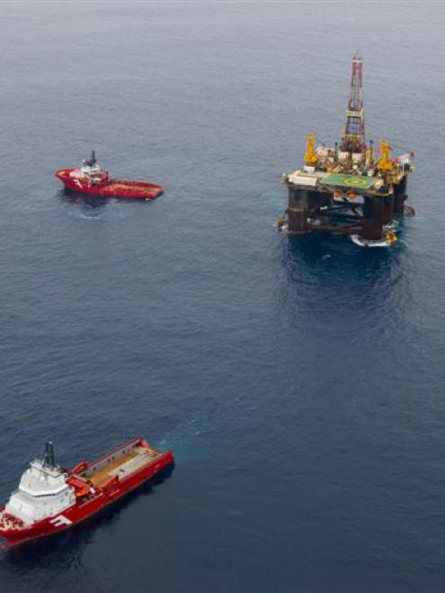 Positive results from test drilling, such as from  Kan Tan IV, pictured four years ago with two...