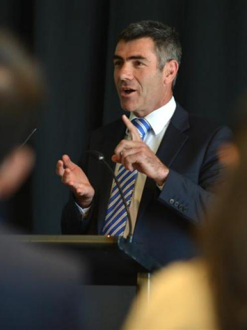 Primary Industries Minister Nathan Guy gives his opening address at the  Global Food Safety Forum...
