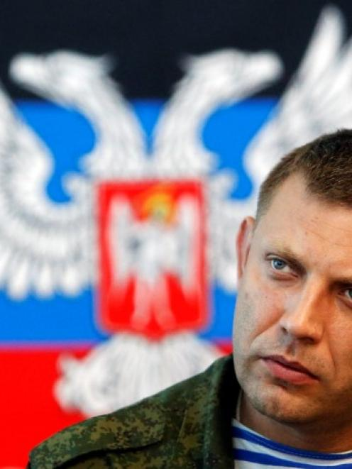 Prime Minister of the self-proclaimed 'Donetsk People's Republic' Alexander Zakharchenko attends...
