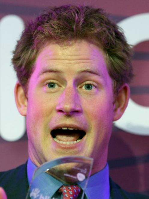 Prince Harry. Photo Reuters