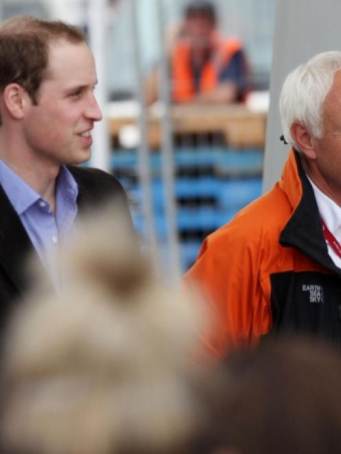 Prince William and Christchurch Mayor Bob Parker. Photo by NZPA.