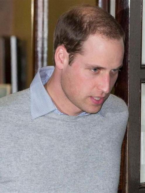 Prince William leaves  the King Edward VII hospital in London. His wife Catherine, Duchess of...