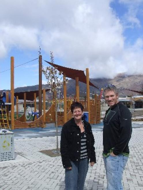 Principal Dr Wendy Bamford and board of trustees chairman Pete Bullen in the grounds of the new ...