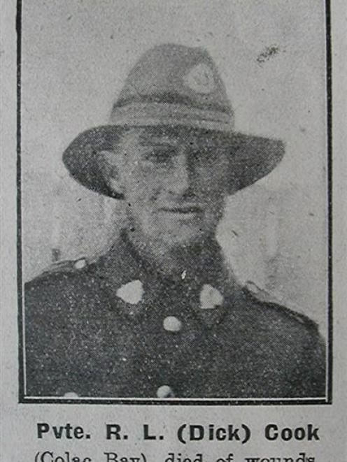 Private Richard (Dick) Cook.