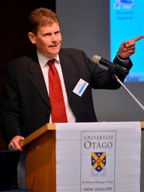 Prof John Crump summarises international health trends at a university conference yesterday....