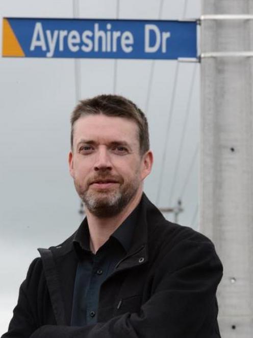 Prof Liam McIlvanney at Ayreshire Dr in Mosgiel. Photo by Gerard O'Brien.
